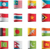Vector flags. Asia, part 7 Stock Photos
