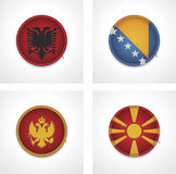 Vector flags of countries as fabric badges Royalty Free Stock Photography