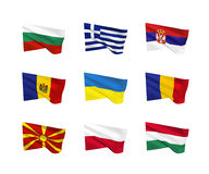 Vector flags - Eastern Europe Royalty Free Stock Image