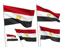 Vector flags of Egypt Royalty Free Stock Images