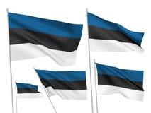 Vector flags of Estonia Stock Image