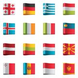 Vector flags. Europe, part 2 Royalty Free Stock Photography