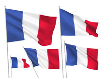 Vector flags of France Royalty Free Stock Images