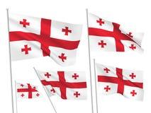 Vector flags of Georgia Stock Photo