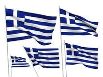 Vector flags of Greece Stock Photo
