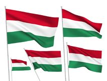 Vector flags of Hungary Stock Photo