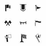 Vector Flags icon set Stock Photos