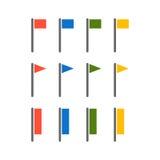 Vector flags illustration. royalty free illustration