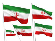 Vector flags of Iran Stock Images