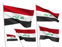 Vector flags of Iraq Stock Photo