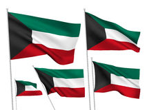 Vector flags of Kuwait Royalty Free Stock Photo