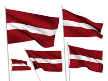 Vector flags of Latvia Royalty Free Stock Photography