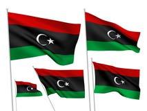 Vector flags of Libya Royalty Free Stock Photo
