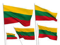 Vector flags of Lithuania Royalty Free Stock Image