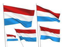 Vector flags of Luxembourg Stock Image