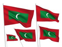 Vector flags of Maldives Stock Images