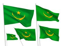 Vector flags of Mauritania Royalty Free Stock Photography
