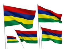 Vector flags of Mauritius Stock Image