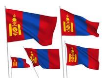 Vector flags of Mongolia Royalty Free Stock Photos