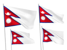 Vector flags of Nepal Royalty Free Stock Photography