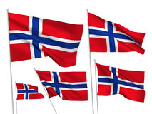Vector flags of Norway Stock Image