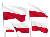 Vector flags of Poland Stock Images