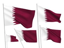 Vector flags of Qatar Royalty Free Stock Photography