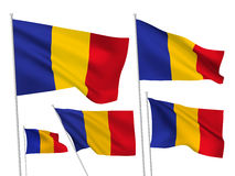 Vector flags of Romania Royalty Free Stock Photo