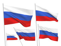 Vector flags of Russia Royalty Free Stock Photography