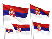 Vector flags of Serbia Royalty Free Stock Photos