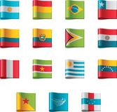 Vector flags. South America, part 5 Stock Photo