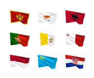 Vector flags South European countries Stock Images