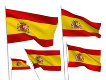 Vector flags of Spain Royalty Free Stock Photos