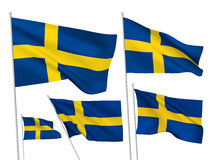 Vector flags of Sweden Royalty Free Stock Photo