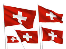 Vector flags of Switzerland Stock Image