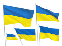 Vector flags of Ukraine Royalty Free Stock Photography
