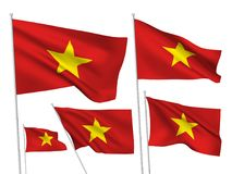 Vector flags of Vietnam Royalty Free Stock Images
