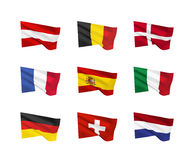 Vector flags Western Europe Royalty Free Stock Photography