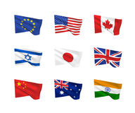 Vector flags of the world Royalty Free Stock Photo