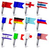 Vector flags of the world Stock Photography