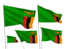 Vector flags of Zambia Royalty Free Stock Photos