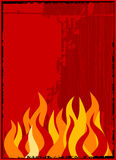 Vector flame background Stock Image