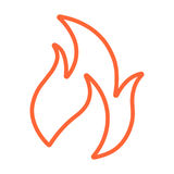 Vector Flame Line Icon. Vector illustration of a flame line icon in two dimensional perspective Stock Images