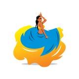 Vector flamenko dancer Cartoon Illustration. Stock Images
