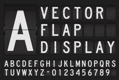 Vector flap display Stock Image