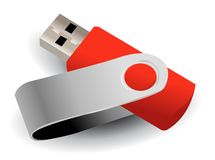 Vector flash drive Stock Image