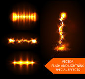 Vector flash effects Royalty Free Stock Image