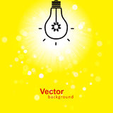 Vector flash of light. And background Royalty Free Stock Photo