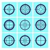 Vector flat aim icons set isolated. Royalty Free Stock Image