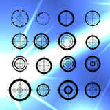 Vector flat aim icons set isolated. Stock Photo